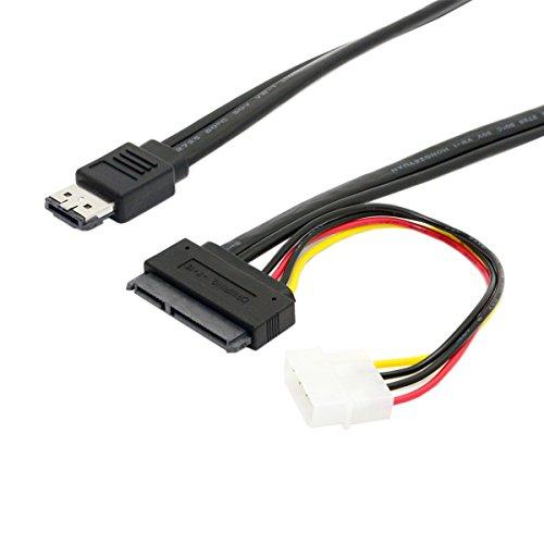 CY 50 cm eSATAp Power ESATA Combo auf SATA 22pin & IDE 4pin 5V 12V für 3,5/2,5 Zoll Festplatten-Datenkabel