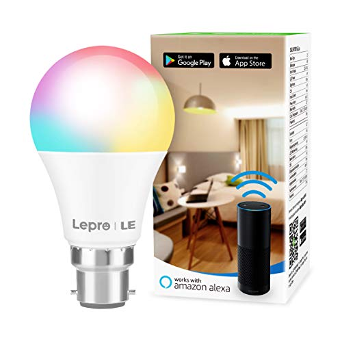 LE Alexa Smart Bulb Bayonet, App or Voice Control, B22 Colour Changing...