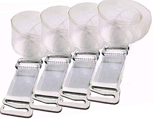 Yantin Damen Transparent BH-Träger Einstellbar Durchsichtige Unsichtbar BH Träger mit Metallhaken