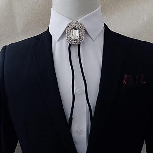 Wuyuana Bolo Tie - Pajarita para mujer, diseño de lazo con diamantes de imitación (color: D)