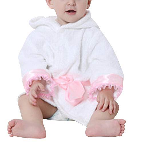 Niños Albornoz con Capucha Camisón Baño Robe Cómoda Ropa De Dormir De Franela 100