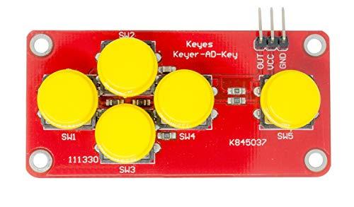 MissBirdler 5-Tasten Gamepad, Joypad Button Board für Arduino, Raspberry Pi Prototyping