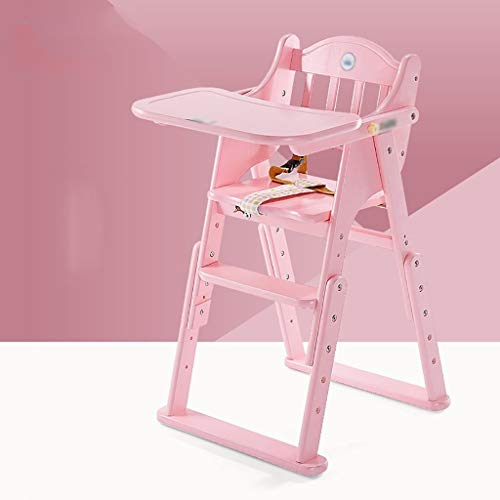 Fantastic Deal! LQBDJPYS Children Multi-Function Folding Wooden Baby High Chair, Their Own Disassemb...