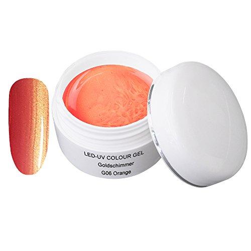LED UV couleur gel or shimmer G06 Orange 5ml