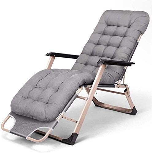 FHISD Lounge Chair, Cushion Tufted Soft Deck Chaise Padding Outdoor Patio Pool Recliner Zero Gravity Chair