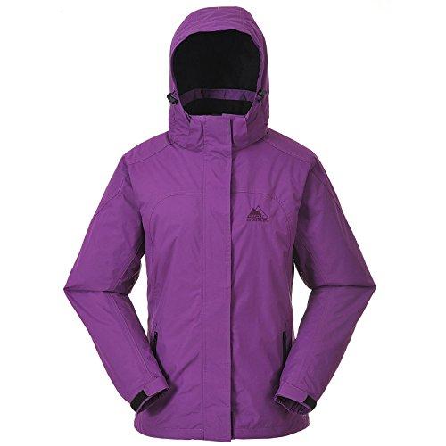 Cox Swain Damen 2-Lagen Outdoor Regenjacke Pure - 5.000mm Wassersäule, Colour: Berry, Size: L