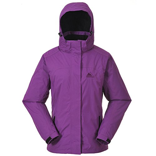 Cox Swain Damen 2-Lagen Outdoor Regenjacke Pure - 5.000mm Wassersäule, Colour: Berry, Size: L