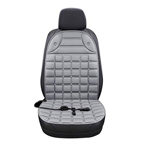 Seat Heating Car Edition 12V, Heated Cushions Electric Car Seat Heating Pad Of The Car, Temperature Adjustable, Relaxation Relieving Muscle Pain (Color : Gray, Size : Single)