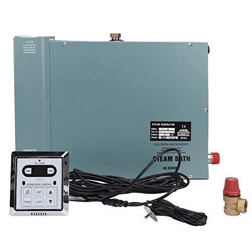 Caredy Dampferzeuger, 6KW Dampfduschen Saunaofen Home Steam Sauna Dampfbad Generator Home Steam Duschsystem mit wasserdichter Digitalanzeige Controller(U Standard 220V)