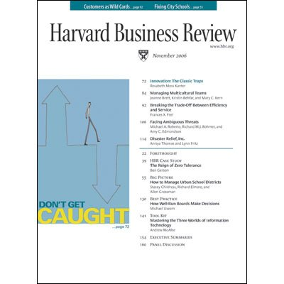 Harvard Business Review, November 2006 audiobook cover art