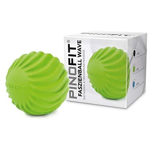 PINOFIT Faszienball Wave – zur Selbstmassage und Behandlung des Bindegewebes – verschiedene Trendfarben (Grün)