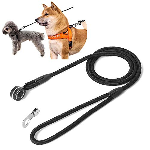 Eyeleaf Magnetic Dog Leash Strong Automatic Lock Carabiner Quick Link Fastener Nylon Dog Leashes Climbing Secured Durable Dog Lead for Small Medium Dogs