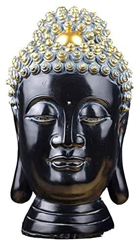 Escultura de escritorio Buda cabeza decoración grande Buda cabeza estatua escultura carácter...