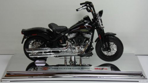 Motorrad Modell Harley Davidson 2008 FLSTSB Cross Bones schwarz glatt - Maisto 1:18