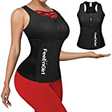 FeelinGirl Women's Latex Waist Trainer Corset for Weight Loss Body Shaper, Black, XXL