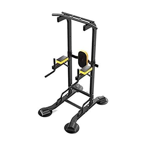 MGIZLJJ Inicio Gym Power Tower Fuerza Entrenamiento Entrenamiento Equipo de Entrenamiento Pull Ups Equipo de Fitness Pull-Ups Hogar Pesado Pesado Barras paralelas (Color : Black)
