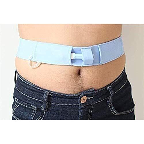 WWQU Tragbarer G-Tube-Halter, Wiederverwendbare Bauchdialyseschutzbänder Waschbare Bauchfutterschläuche für Männer und Frauen 12.18 (Size : Small)