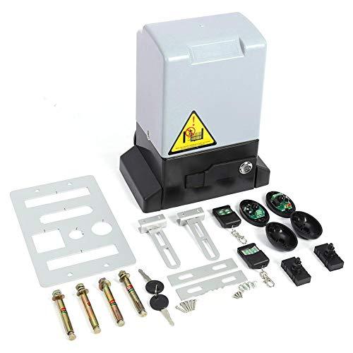 Kit de abridor de Puerta corredera Automático Ajustable de 1200KG y 550w con Sonda de Sensor Infrarrojo Protección de la Temperatura Sistema de Cierre Automatico(Motor)