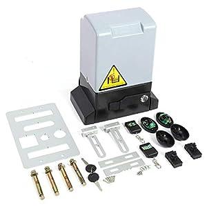 GOTOTP Kit de abridor de Puerta corredera automático Ajustable de 2000KG y 750w con Sonda de Sensor Infrarrojo Protección de la Temperatura Diseño de Apertura Manual (Motor)