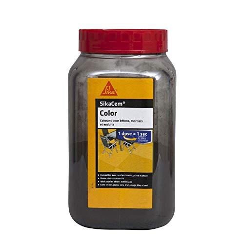 SikaCem Color, Colorant en poudre pour ciment, chaux et plâtre, 700g, Noir