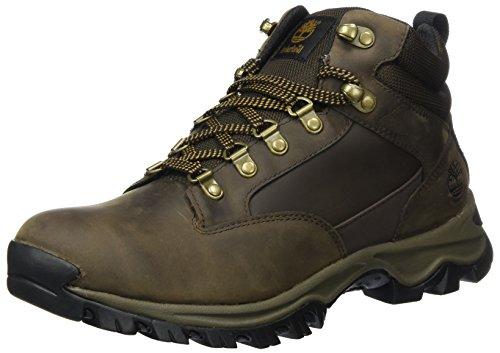 Timberland Herren Keele Ridge WP Leather Mid Chukka Boots, Braun (Medium Brown), 43 EU