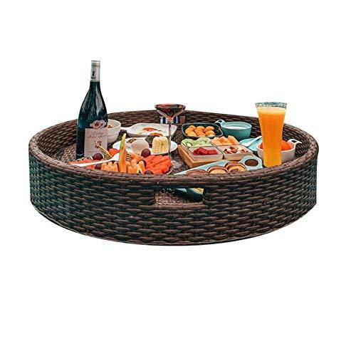 LJJOO Mesa de Bandeja de sirvería Flotante de Lujo. Colchonetas y Juguetes hinchables (Size : 60cm)