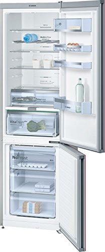 Bosch Serie 6 KGN39LR35 Libera installazione 366L A++ Rosso, Acciaio inossidabile frigorifero con congelatore