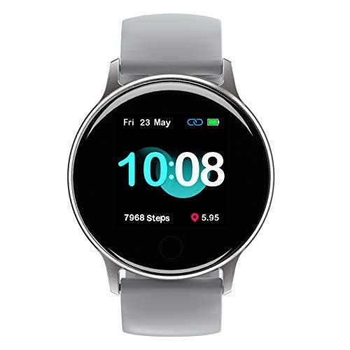 UMIDIGI Smartwatch, Uwatch 2S wasserdichte Fitnessuhr mit individualisierbaren Zifferblätter, Fitness Tracker Smart Watch mit Pulsuhr, Stoppuhr, Schrittzähler für Damen und Herren, Titangrau