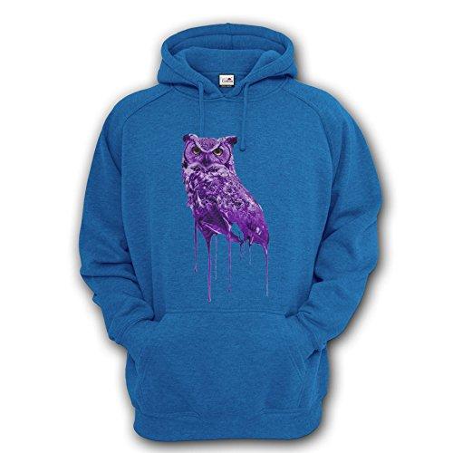 Drake Drizzy Eule Ovo X Hoodie S/M/L/XL/2X L/3X L/4X L/5X L Gr. S / 88,90-93,98 cm, azurblau