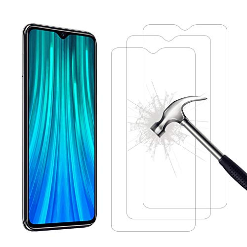 AHABIPERS Tempered Glass for Xiaomi Redmi Note 8 Pro Screen Protector, Easy Bubble-Free Installation, 9H Hardness, 99.99% HD Clarity Tempered Glass Protector for Redmi Note 8 Pro - 3 Pack