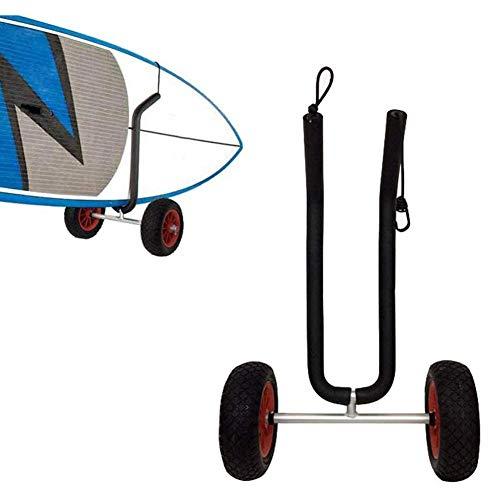 GzxLaY Carro de Tabla de Surf Ajustable, Carro liviano de Dos Ruedas para Cualquier tamaño Tabla de Paddle Surf Inflable, Ajustable para Cualquier tamaño