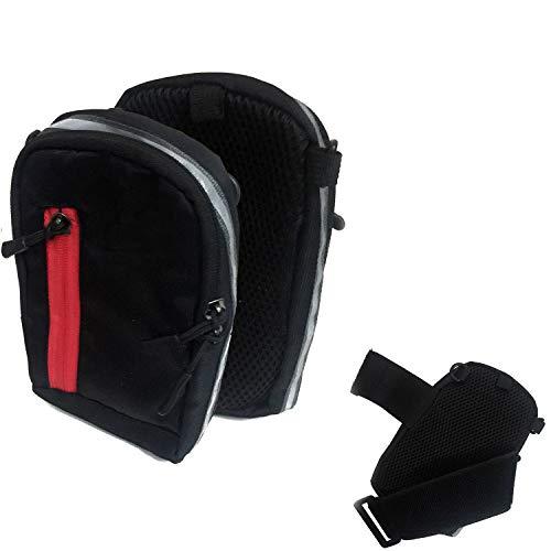 K-S-Trade Outdoor Gürteltasche Holster Umhängetasche + Kopfhörer Kompatibel Mit Allview P42 Schwarz Handytasche Hülle Travelbag Schutzhülle Handyhülle