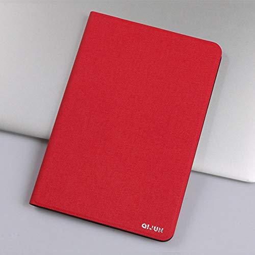 para Lenovo Tab 3 8 Plus 8.0 Tab3 8 Plus Qijun Bag para Tablet P8 8.0 TB-8703F / N Flip Funda de Silicona Suave con Soporte-Rojo