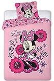Twenty Feet Minnie Mouse - Juego de cama (funda nórdica de 140 x 200 cm, 2 fundas de almohada y 2...