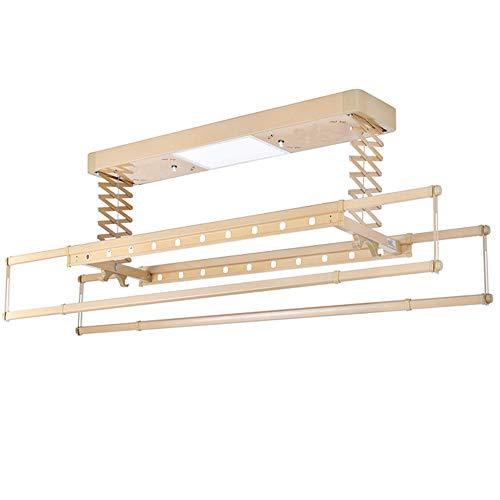 WARM WORM Elektrische Droogrek, Intelligente Afstandsbediening Lift Balkon Plafond Automatische Drogen Telescopische Droogrek, Draadloze Afstandsbediening Lift + Verlichting