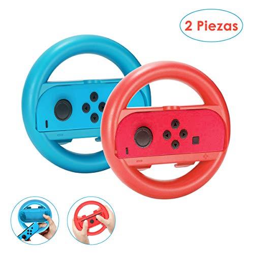 Nasjac Volante para Nintendo Switch– Volante Rojo y Azul Compatible con los controles Joy-con en el…