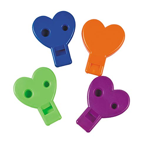 Lowest Prices! Fun Express - Heart Shaped Whistles (4dz) for Valentine's Day - Toys - Noisemakers - ...