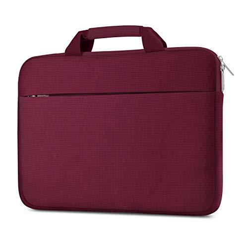 """AtailorBird 14"""" Funda Ordenador Portátil con Asa,Maletín Impermeable Protectora Multifuncional Bolso Blanda para Notebook Chromebook Surface Laptop-Bordeaux"""