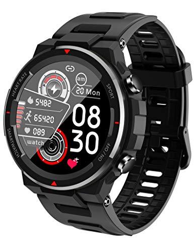 Smartwatch Herren Militär Uhr Sportuhr Outdoor Fitness Tracker Männer Pulsuhren Schrittzähler Stoppuhr für Android IOS wasserdichte Laufuhren Schlafmonitor