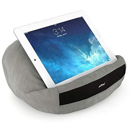 padRelax Casual Grau iPad Halterung bis 10.5 Zoll, Made in Germany, für Bett, Sofa, Tisch, kompatibel mit Apple iPad, kompatibel Samsung Galaxy Tab, eReader, Buch
