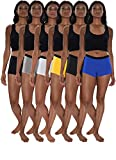 Sexy Basics Women's 6 Pack Modern Active Boy Short Boxer Brief Panties (6 Pack- Assorted Core Solids, X-Large)