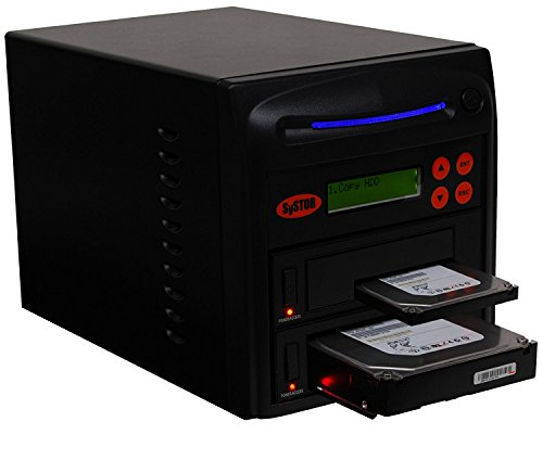 Systor 1 to 1 SATA 300MB/s HDD SSD Duplicator/Sanitizer - 3.5' & 2.5' Hard Disk Drive Solid State Drive Dual Port Hot Swap (SYS301DP)
