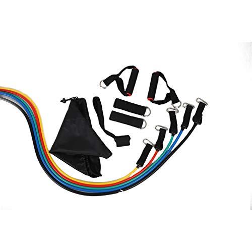 11PCS / Set Resistance Bands Set, Übungswiderstandsband für Ganzkörperübungen überall, Heim-Fitnessgeräte für Arm und Beine