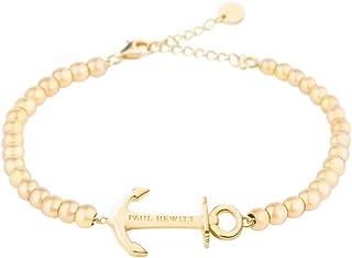 PAUL HEWITT Perlenarmband Damen Anchor Spirit - Armkette mit Option Einer persönlichen Gravur Damen Schmuck aus Edelstahl Gold
