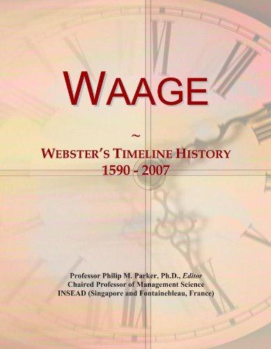 Waage: Webster's Timeline History, 1590 - 2007