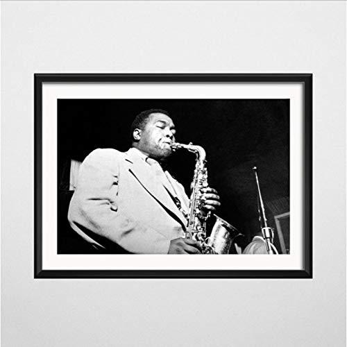 Charlie Parker Jazz Saxophon Größter Musiker Kunst Malerei Seide Leinwand Poster Wand Wohnkultur 50 * 70Cm No Frame