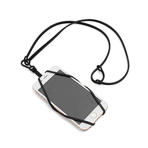 System-S Smartphone Halsband Umhängeband Trageband (Schwarz)
