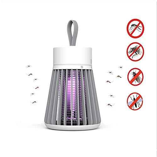 Lampe Anti-Moustique,éLectrique Tueur De Moustique avec LumièRe UV,Lutte Contre Les Insectes,ÉTanche,Chargement USB pour La Cuisine Domestique Jardin Utilisation IntéRieure/ExtéRieure