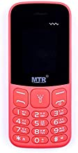MTR MT-130 DUAL SIM 1.8 Screen Phone with Torch/colour Display/MP3/MP4/FM Radio/Camera with Flash/Audio Call Record/Vibrate/Multiple Languages Support/2-3 Days Battery Standby/3.5 mm Audio Jack (Red)