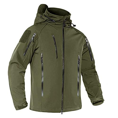 MAGNIVIT Men's Military Jacket Softshell Tactical Hooded...